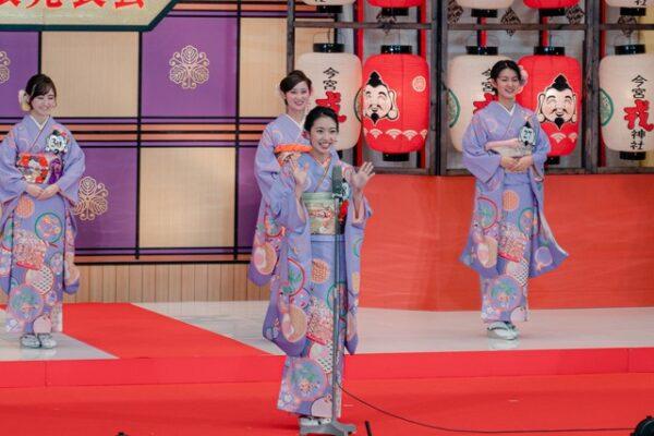 代表福娘に選ばれた橋本和花子アナの画像