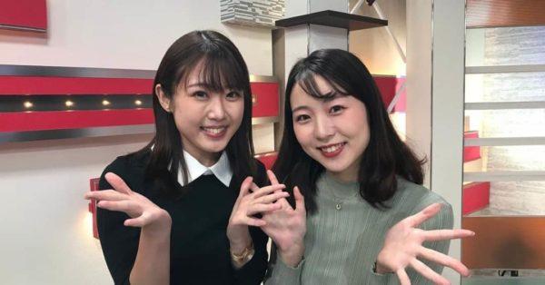 木和田優衣アナと川上夏子アナ