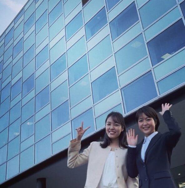 向山侑希アナと同期の吉田優アナの2ショット