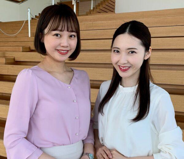 山中麻央アナと長谷川珠子アナのカップを比較
