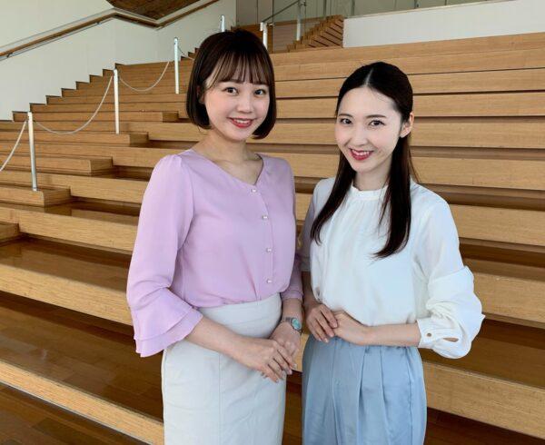 山中麻央アナと長谷川珠子アナの身長を比較