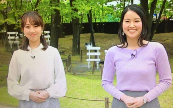 佐藤伊音アナと平井侑貴アナのカップサイズ比較
