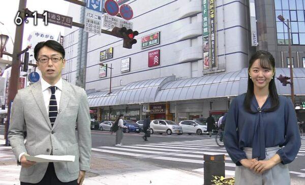 道上美璃アナと滑川和男アナを比較して道上アナの身長を検証