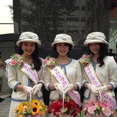代表フラワープリンセスに選ばれた森田茉里恵アナ
