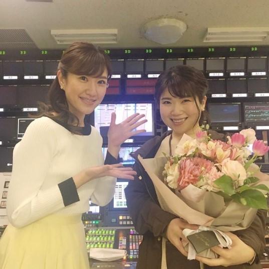 徳田琴美アナと長谷川静香アナの身長比較
