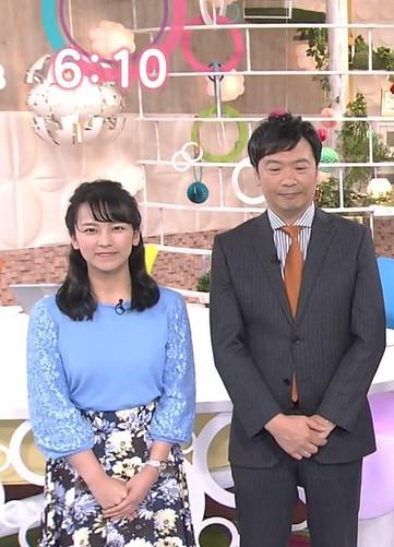 福永美春アナと寺尾直樹アナアナのツーショット