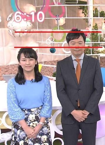 福永美春アナと寺尾直樹アナアナの身長を比較