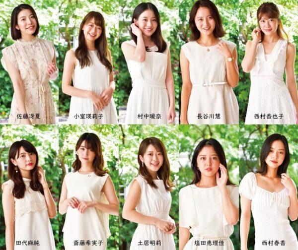 コロナ支援の写真集に参加する斎藤希実子アナと小室瑛莉子アナ