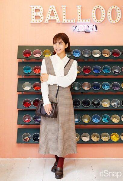 162cmの坂田茉世アナの全身画像