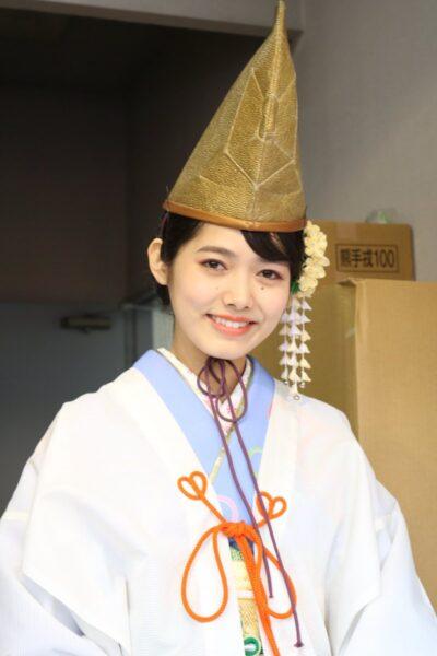 大学時代に今宮戎神社の代表福娘に選ばれた谷尻萌アナ
