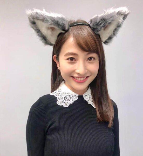 オオカミ少年に出演する犬耳の日比麻音子アナ