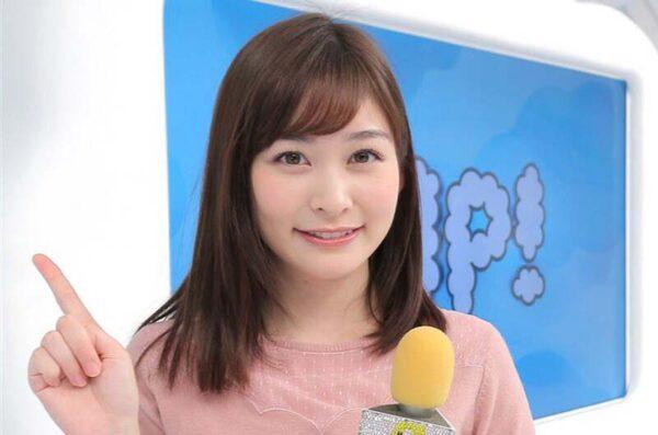 肌の白さでも注目される岩田絵里奈アナ