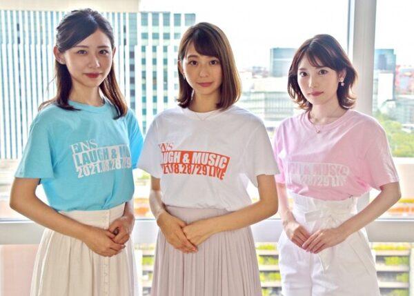 フジテレビの新入社員、竹俣紅アナ、小室瑛莉子アナ、小山内鈴奈アナの3ショット