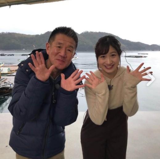 ラッシャー板前さんと旅サラダの生中継コーナーに出演していた坂口愛美アナ