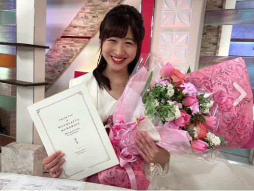 愛媛朝日放送退社時の坂口愛美アナ