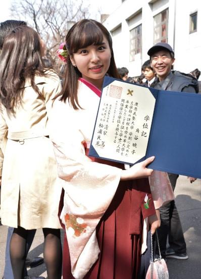 大学時代の角谷暁子アナ