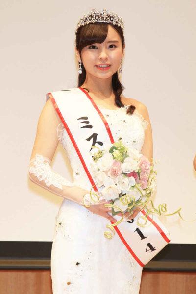 ミス慶応でグランプリを獲得した角谷暁子アナ
